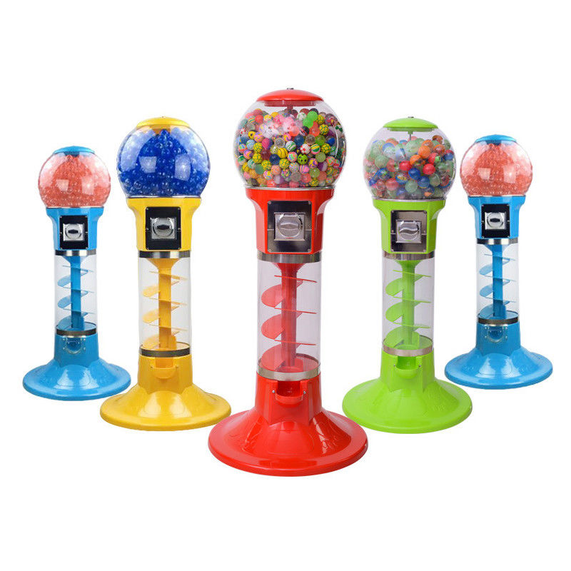 Gashapon Toy Arcade Prize Machines / Non-electricity Spiral Gumball Machine